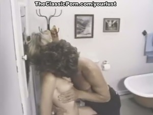 Extremely passionate bathroom sex featuring vintage porn stars Kay Parker and...