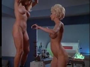 When work become tiresome Christy Canyon gets fingered in lesbian scene
