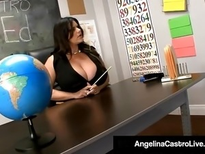 Cuban BBW Angelina Castro Shows Tara Lynn How to Suck Cock!