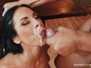Seductive Veronica Rayne having her pussy sucked and penetrated hard