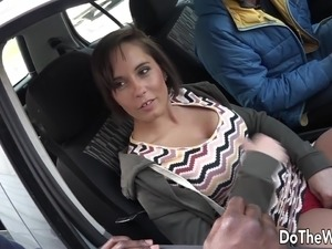 Swinger couple meets a black stud at the street