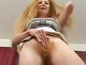 amateur redhead with nice boobs and  pussy very hairy
