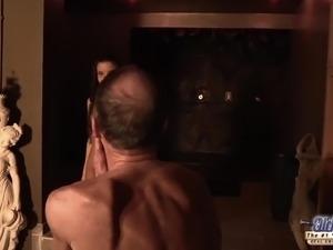 Teen Fucked Old man cock seduced him swallowed his cum