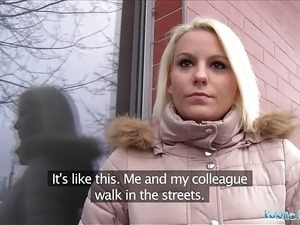 Public Agent Hot blonde Lucy Shine takes cash for sex