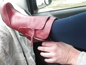 Playing with My RED boots