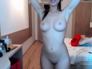 Naked Nicole Graves having a horny solo masturbation