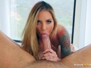 Teagan Presley is great at bouncing on a man's erected boner