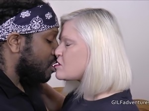 Mature granny Lacey Starr does a fat black cock