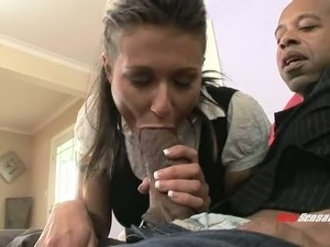Tattooed milf loves getting drilled with a big black cock