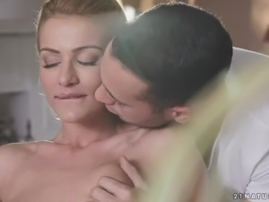 Hot like fire light haired Serbian beauty Cherry Kiss knows how to ride big cock