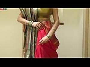 How To Tie Seedha Palla Saree   Wear Gujrati Style Sari Beautifuly [720p]