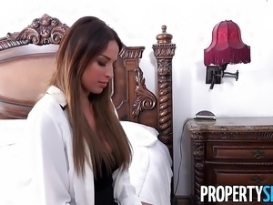PropertySex - Hot French teacher fucks homeowner