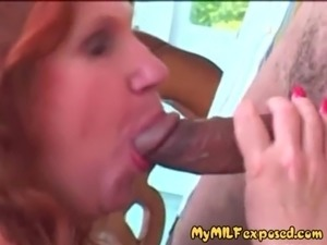 My MILF exposed Busty mature wife in black stockings fucking