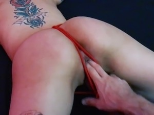 Tied up sub slut fingered and fisted