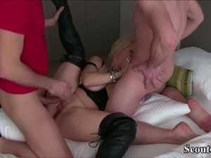 Two German Friends of her Son Seduce His Mother to Fuck