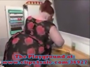 Bbw Nadia-Obese in the kitchen!Pre