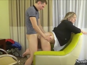 Chef Blackmail his German Teen Intern to Fuck