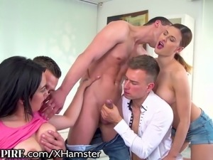 BiEmpire Bi Orgy Leads to Buttfucking Fun!