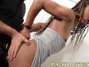Facialized ebony stunner Misty Stone wants that big cock