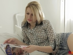 18 Videoz - Karina Grand - Teeny swallows and goes anal