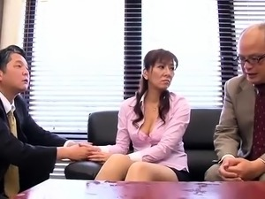 Busty Japanese milf with a perfect ass loves to get fucked