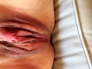 Amateur lady gets her shaved pussy eaten out and fingered