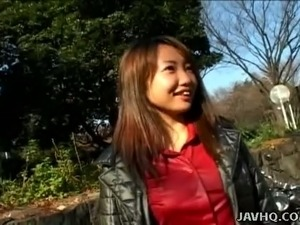 This Japanese chick loves flashing her private parts in public places