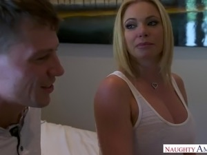 Jaw dropping big breasted blonde sexpot Briana Banks is made to ride dick