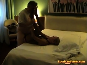 Real Escort Fucks in Italy's Hotel with Old Man