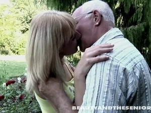 Old man got a better hot sex from a young lady