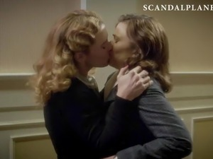 Hayley Atwell & Bridget Regan Lesbian Kiss on ScandalPlanet