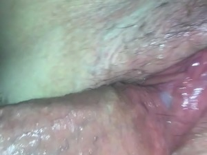 Cream pie friends girlfriend while he licks her pussy