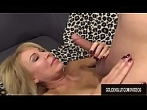 Horny Guy Cant Get Enough of Grandma Erica Lauren and Her Mature Pussy